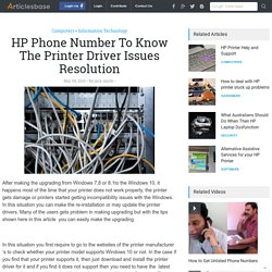 HP Phone Number To Know The Printer Driver Issues Resolution