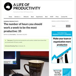 The number of hours you should work a week to be the most productive: 35 – A Life of Productivity
