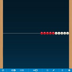 Boulier avec 5 boules rouges et 5 boules noires