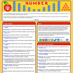 Number Lesson Starters and Online Activities
