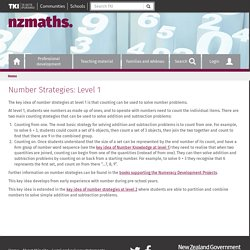 Number Strategies: Level 1