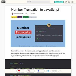 Number Truncation in JavaScript