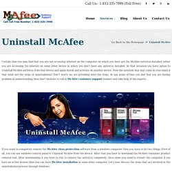 Call Toll Free Number 1-833-335-7999 For Uninstall McAfee Antivirus