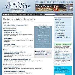 The New Atlantis: Technology and Society magazine
