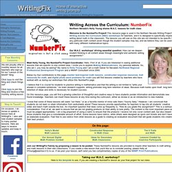 NumberFix: Writing Across the Curriculum...Math Resources