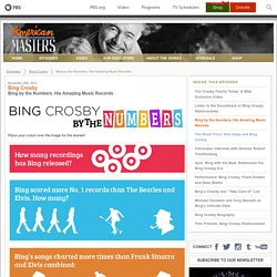 Bing Crosby ~ Bing by the Numbers. His Amazing Music Records