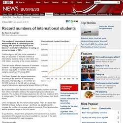 Record numbers of international students