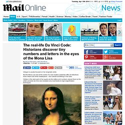 Real-life Da Vinci Code: Tiny numbers and letters discovered on the Mona Lisa