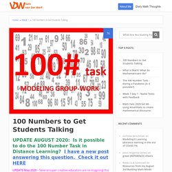 100 Numbers to Get Students Talking - Sara VanDerWerf