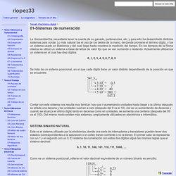 01-Sistemas de numeración - bachillerato2