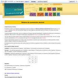 Numeración decimal: Unidad, decena, centena