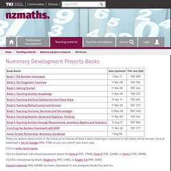 Numeracy Development Projects Books