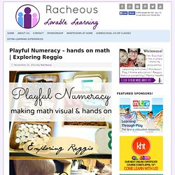 Playful Numeracy - hands on math