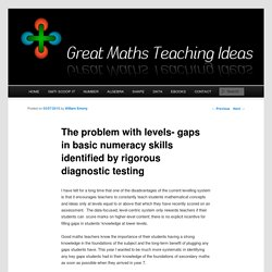The problem with levels- gaps in basic numeracy skills identified by rigorous diagnostic testing