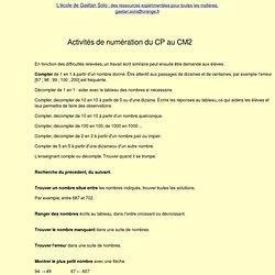 Numération du CP au CM2