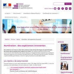 Numération : des expériences innovantes