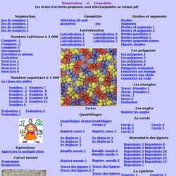 Numération et Géométrie