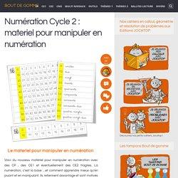 Numération Cycle 2 : materiel pour manipuler en numération
