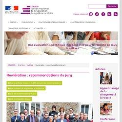 Numération : recommandations du jury