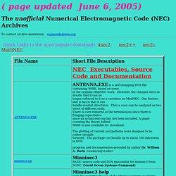 Numerical Electromagnet Code (NEC) Archives