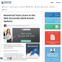 Numerical Tests: Test Training [+ 30 Questions, Answers & Explanations]
