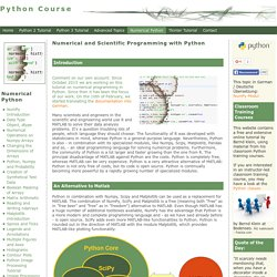 Numerical Python: Numerical and Scientific Python