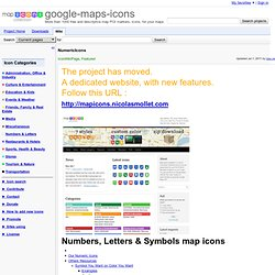 NumericIcons - google-maps-icons - Project Hosting on Google Code