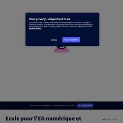 Ecole pour l'EG numérique et adaptation by francois.bajard on Genially