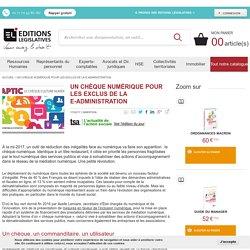 Un chèque numérique pour les exclus de la e-administration