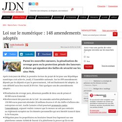 Loi sur le numérique : 148amendements adoptés