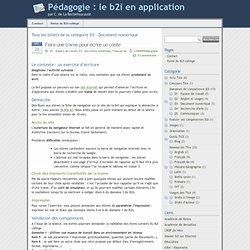 » D3 – Document numérique - Pédagogie : le b2i en application