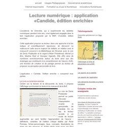 Lecture numérique : application «Candide, édition enrichie»