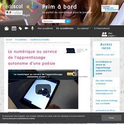 Le numérique au service de l'apprentissage autonome d'une poésie - Prim à bord