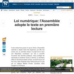 Loi numérique: l'Assemblée adopte le texte en première lecture