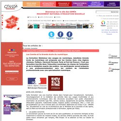 Les Ceméa et la Grande école du numérique- CEMÉA - Site de l'association nationale