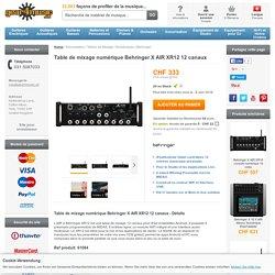 Table de mixage numérique Behringer X AIR XR12 12 canaux à Gear4Music.com