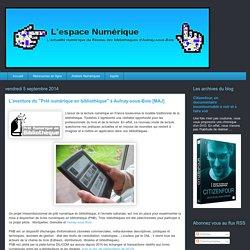 """L'espace numérique: L'aventure du """"Prêt numérique en bibliothèque"""" à Aulnay-sous-Bois [MAJ]"""