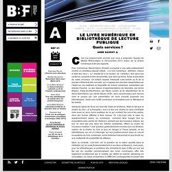 Le livre numérique en bibliothèque de lecture publique