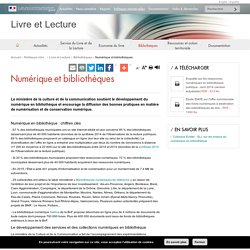 Numérique et bibliothèques - Livre et Lecture