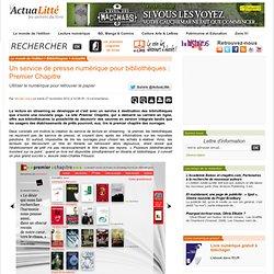 Un service de presse numérique pour bibliothèques : Premier Chapitre