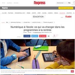Numérique à l'école: ce qui va changer dans les programmes à la rentrée
