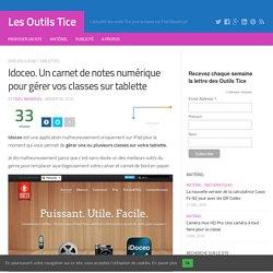 Idoceo. Un carnet de notes numérique pour gérer vos classes sur tablette