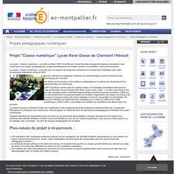 """Projet """"Classe numérique"""" Lycée René Gosse de Clermont l'Hérault - ac-montpellier"""