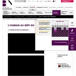 2015/2017 L'Humain au défi du numérique - Collège des Bernardins