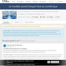 Le modèle social français face au numérique