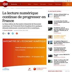 La lecture numérique continue de progresser en France