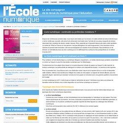L'École numérique»Livre numérique : continuité ou profondes mutations ?