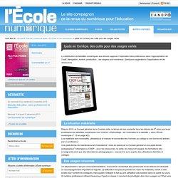 L'École numérique»Ipads en Corrèze, des outils pour des usages variés