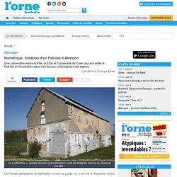 12/01 Numérique. Création d'un Fab-lab à Alençon
