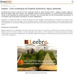Leebre : livre numérique et Creative Commons, façon Jamendo